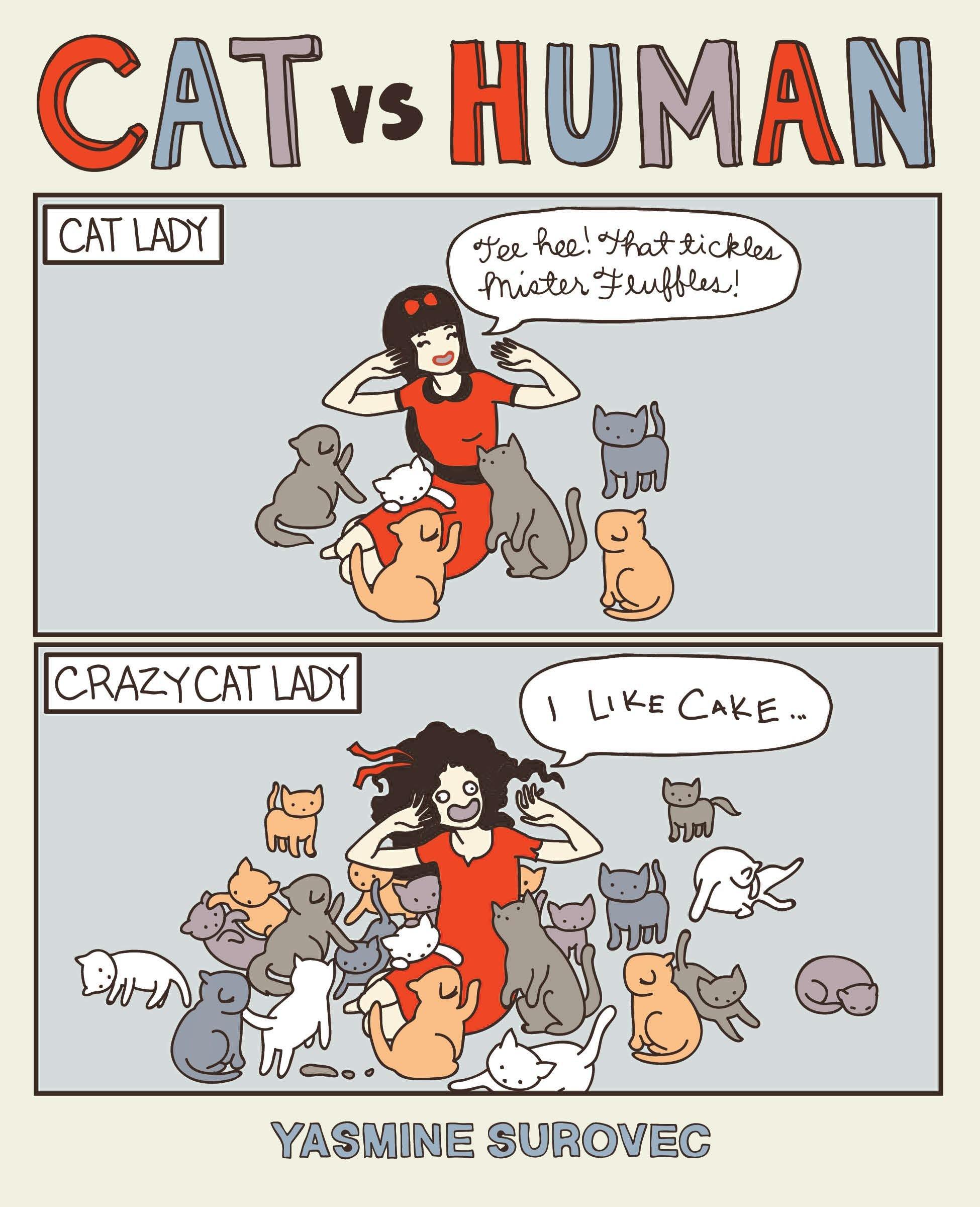 Cat Versus Human (Cat vs Human)  Amazon.co.uk  Yasmine Surovec ... 76245504d
