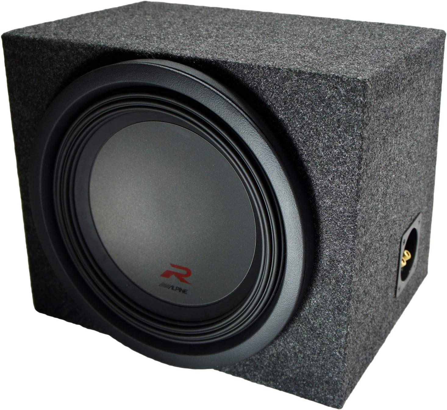 Universal Car Stereo Rearfire Sealed Single 10 Alpine R-W10D4 Type R Car Audio Subwoofer Custom Sub Box Enclosure Package