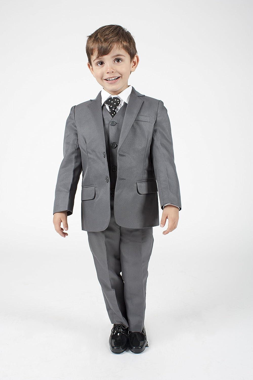 Baby Boys 5 Piece Grey Suit
