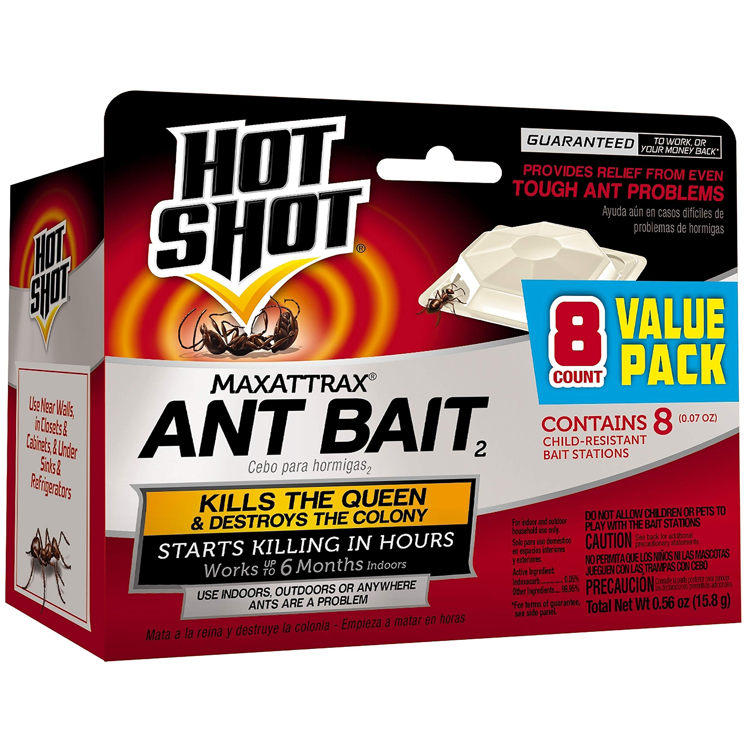 Hot Shot MaxAttrax Ant Bait2, 8-Count, 6-Pack by Hot Shot