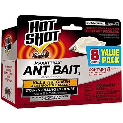 Hot Shot HG-2048 MaxAttrax Ant Bait, Child-Resitant Bait Station, 8-Count