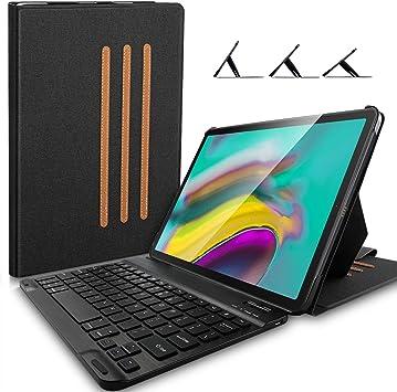 Yocktec Teclado Funda para Lenovo Tab 5 10 Plus [ English QWERTY], Desmontables Wrieless Teclado Estuche con 3 Ángulos de Soporte para Lenovo Tab 5 10 Plus (Negro): Amazon.es: Electrónica