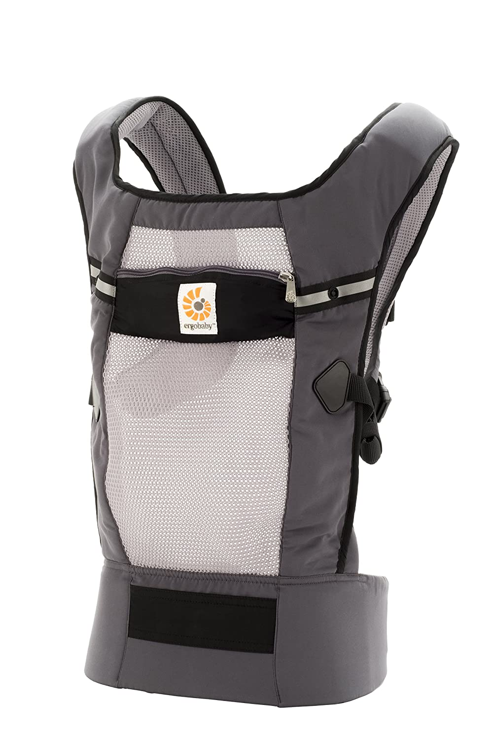 Ergobaby Original Cool Air Mesh Performance Ergonomic Multi-Position Baby Carrier with X-Large Storage Pocket, Graphite