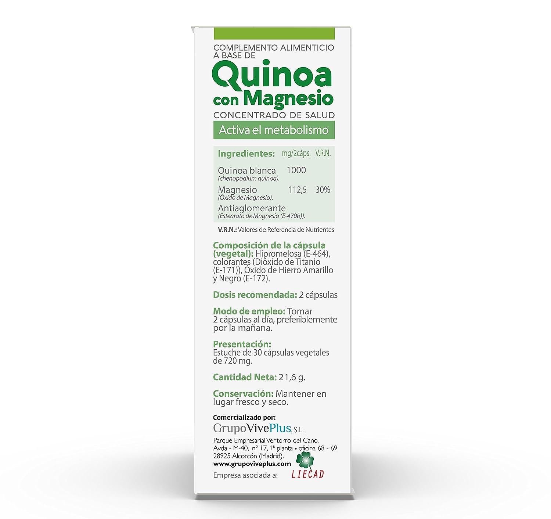Vive+ Advance Quínoa, Suplemento Alimenticio - 3 Paquetes de 30 Cápsulas: Amazon.es: Salud y cuidado personal