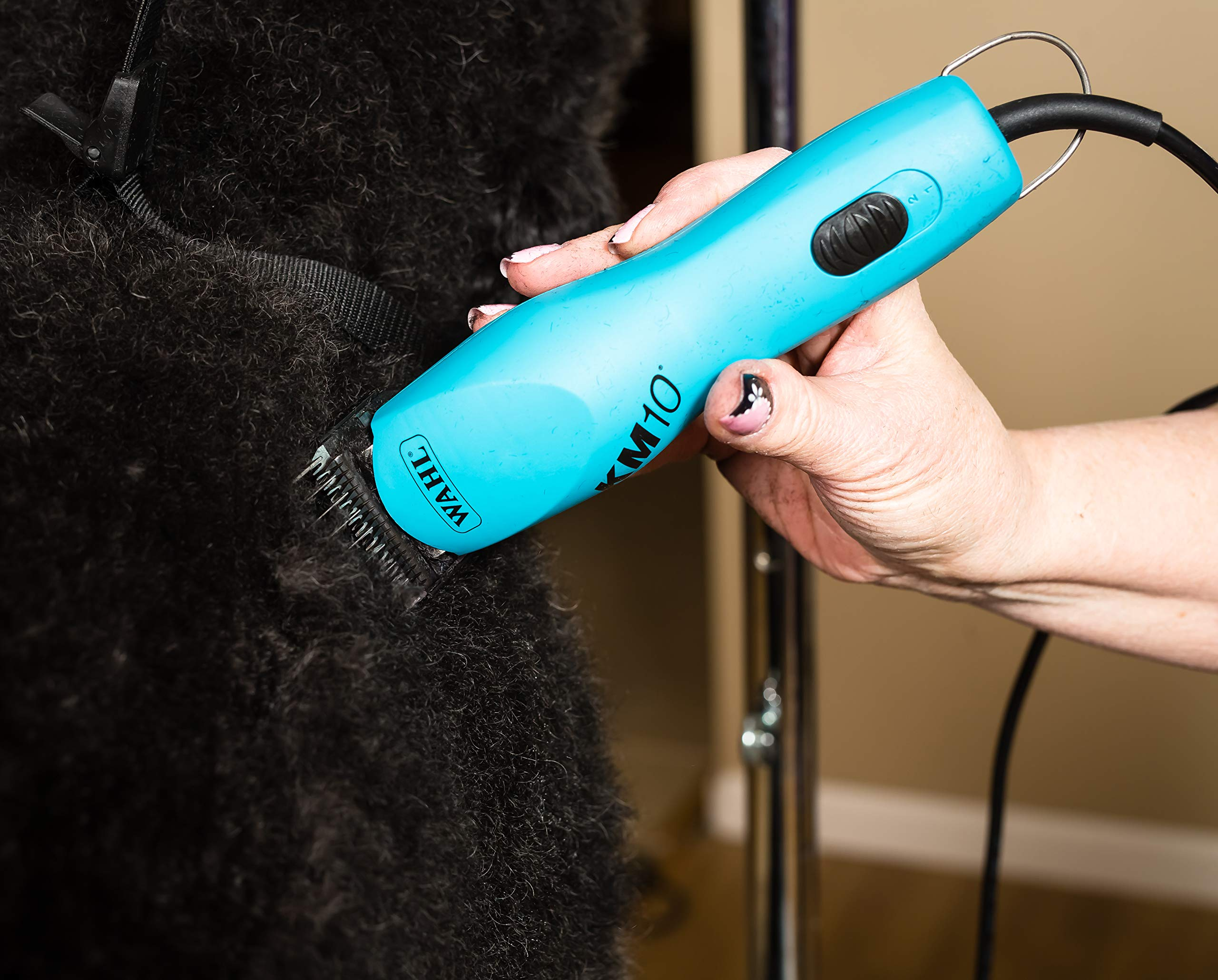 Wahl Professional Animal KM10 2-Speed Brushless Motor Pet Clipper Kit, Turquoise (#9791) by Wahl Professional Animal (Image #5)