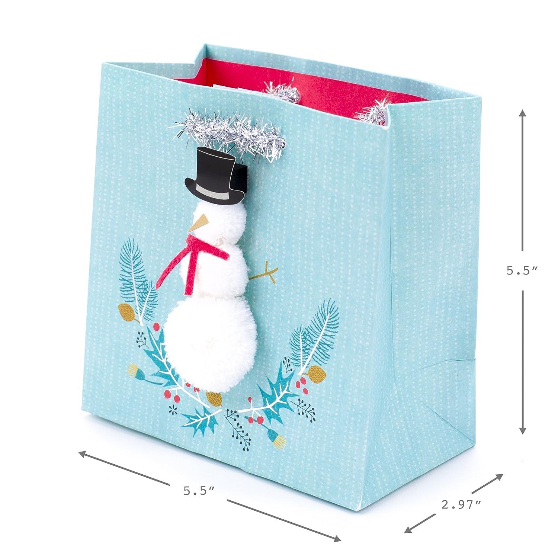 Amazon Hallmark Signature Holiday Small Gift Bag Snowman