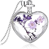 Flowers love crystal plant dry flower necklace Valentine's day gifts of jewelry