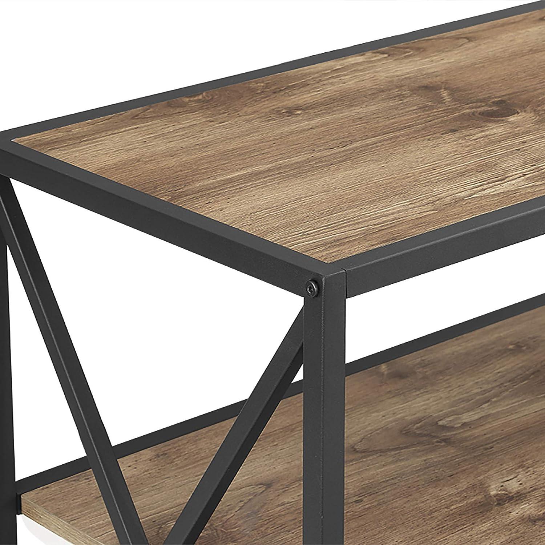 Driftwood WE Furniture 40 X Frame Metal /& Wood Small Media Bookshelf Short 3 Tier Display Bookcase Organizer 3 Shelf Entryway Table