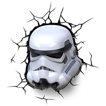 Led Lampe 3d Stormtrooper En Star De Forme Wars nw8Nm0