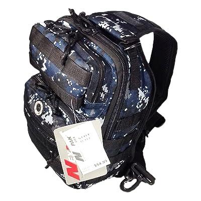 """12"""" 800cu. in. Tactical Sling Shoulder Hiking Backpack TL312 DMBK DIGITAL CAMOUFLAGE Navy Blue"""