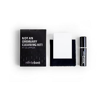 A5 Plain Spiral-bound Infinitebook Reusable whiteboard notebook Black cover Includes Black Pen