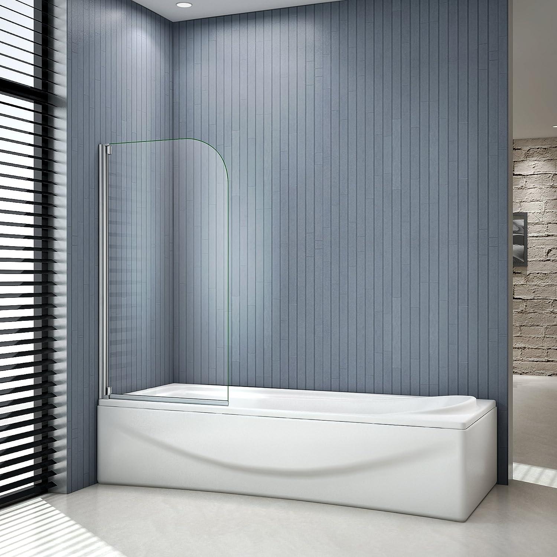 Mampara para bañera y ducha que se abre a 180 grados, 80 x 140 cm ...