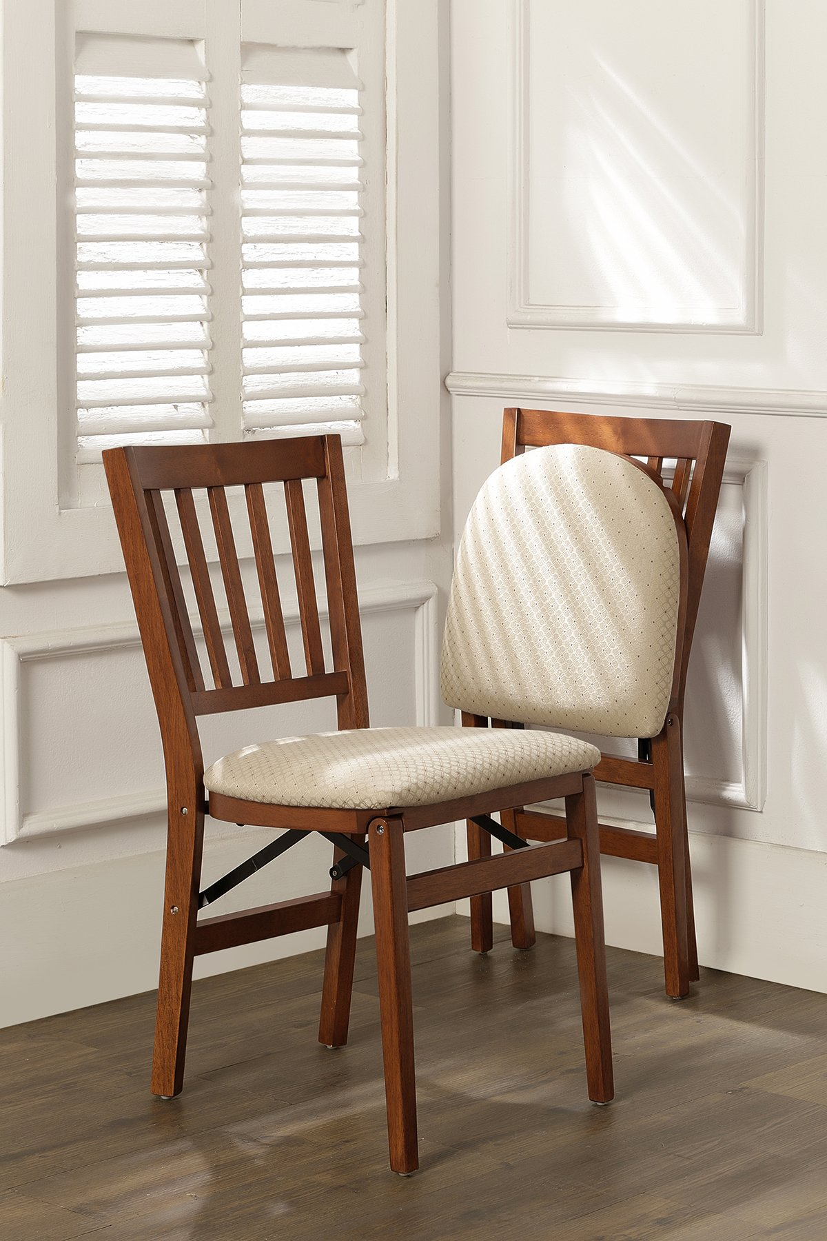 Stakmore School House Folding Chair Finish, Set of 2, Cherry by MECO (Image #3)