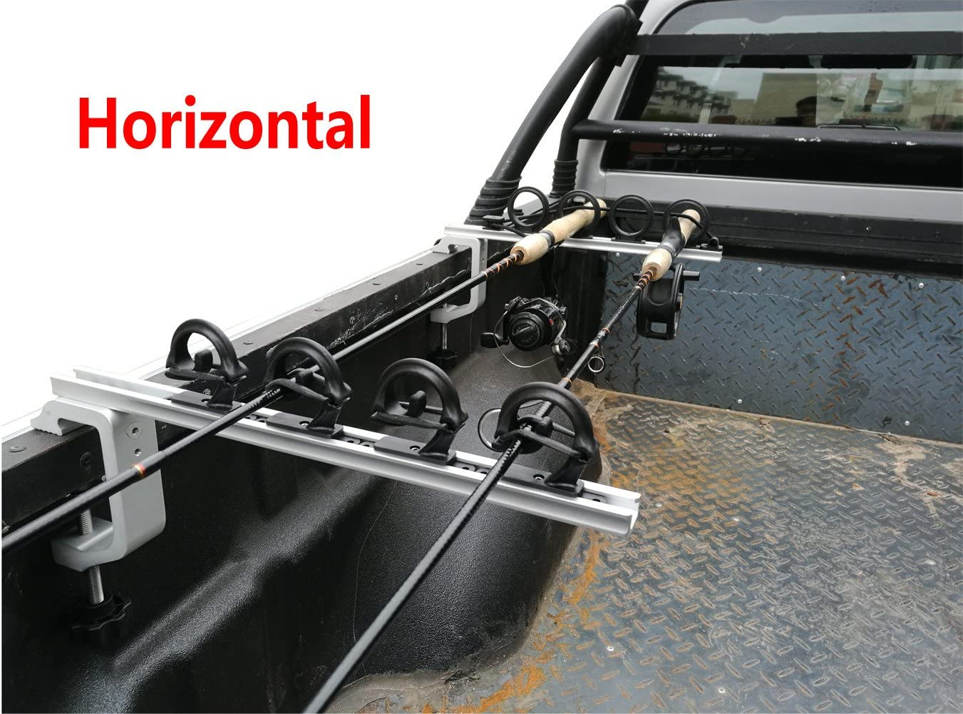 Brocraft Aluminum Clamp on Rod Holder for Truck or Boat Truck Bed Rod Holder