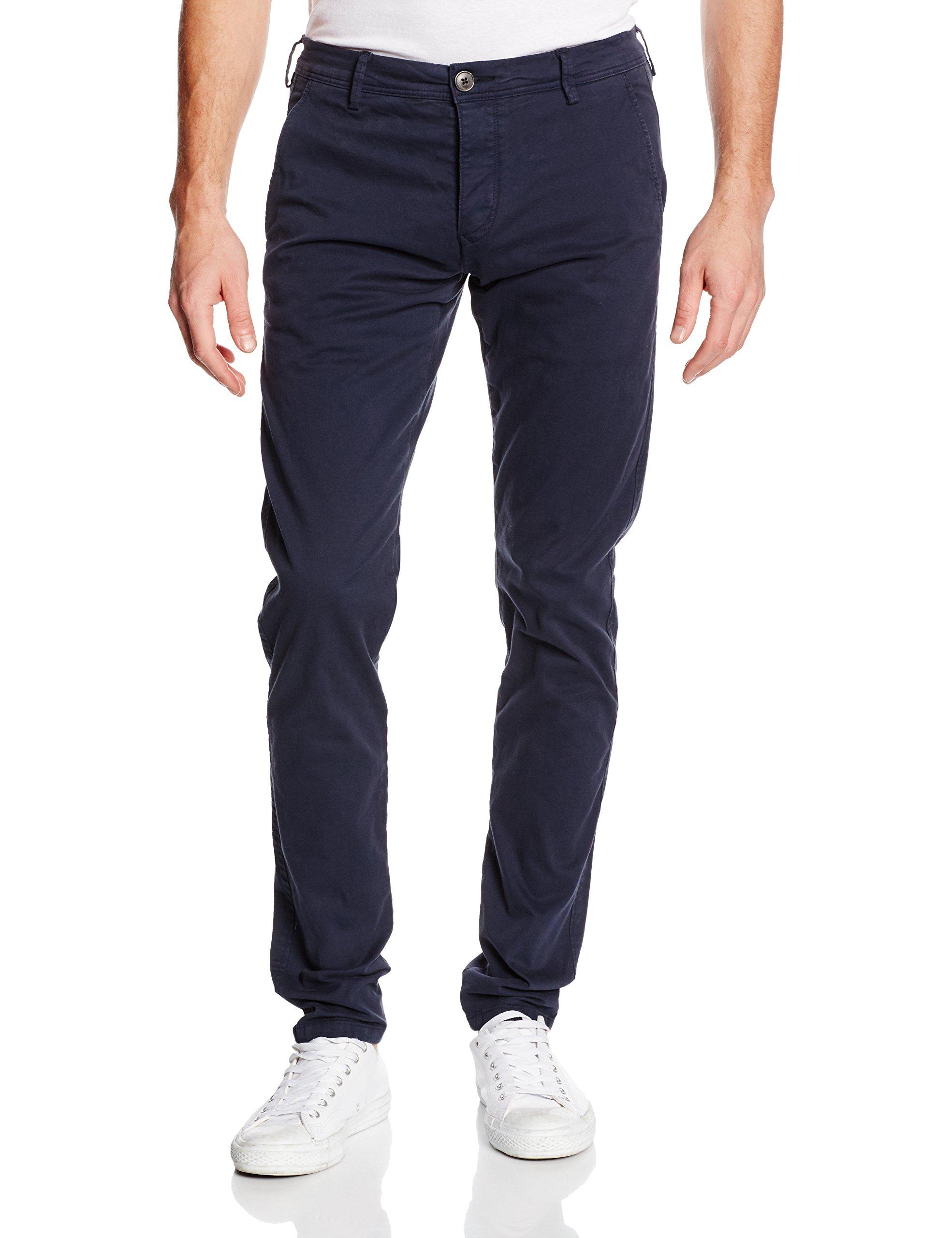 Selected Homme Men's SHOne Luca Pants Navy Blazer Size W31/L32 98% cotton and 2% elastane.