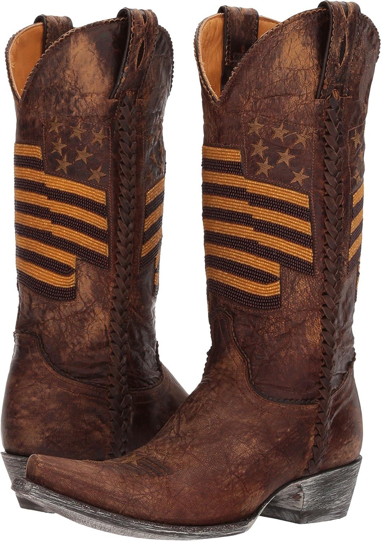 Old Gringo Women's Eleanor Beaded Flag Cowgirl Boot Snip Toe - L2961-1 B076VTDZKM 8 B(M) US|Brass
