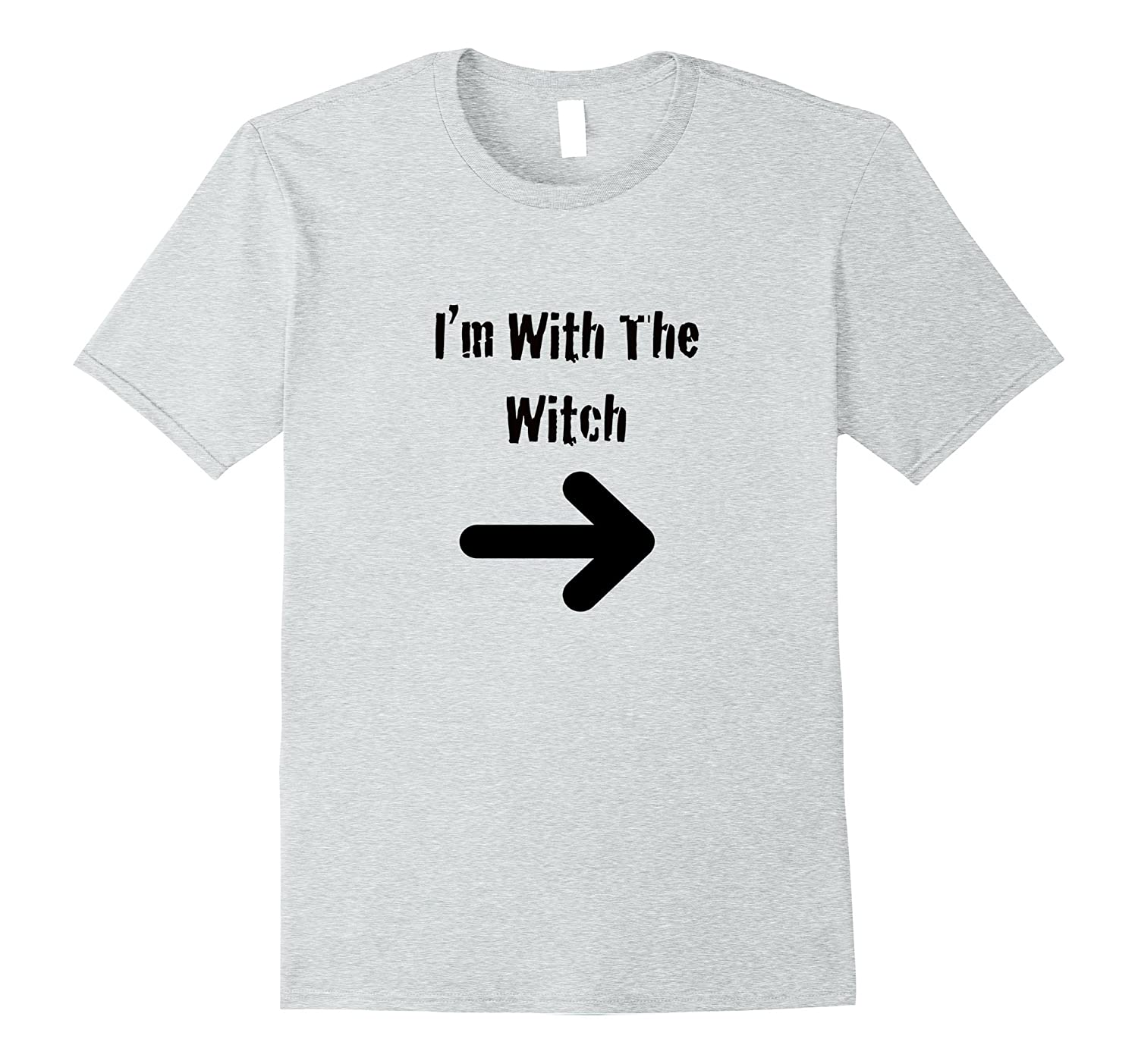 Mens Men's Halloween Couples Costume Shirt I'm With The Witch-T-Shirt