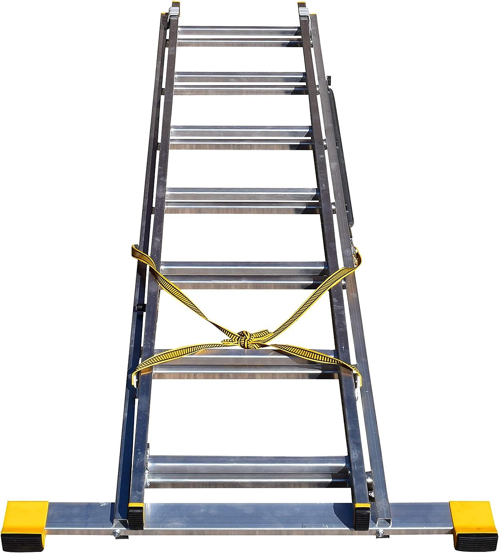 BPS Access Solutions - Escalera extensible de 2 secciones con estabilizador (3.13 m): Amazon.es: Bricolaje y herramientas