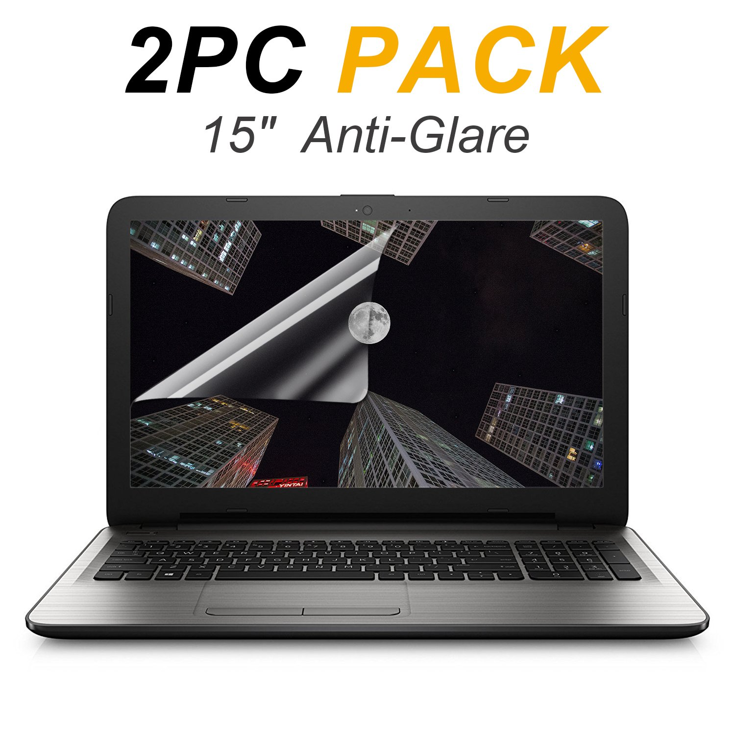 """2-PACK FORITO 15.6"""" Scratch Proof Laptop Screen Protector Anti Glare(Matte) Screen Cover for All 16:9 Aspect RatioLaptop"""