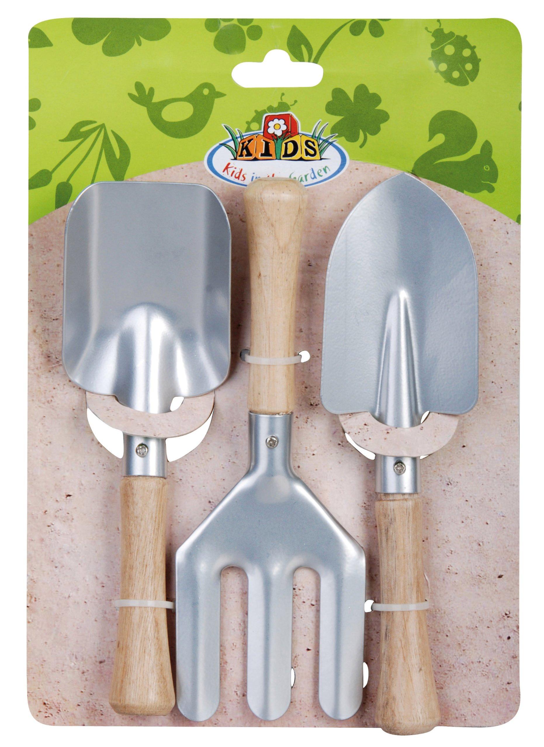 Esschert Design USA KG107 Childrens Small Garden Tool Set, Silver by Esschert Design USA