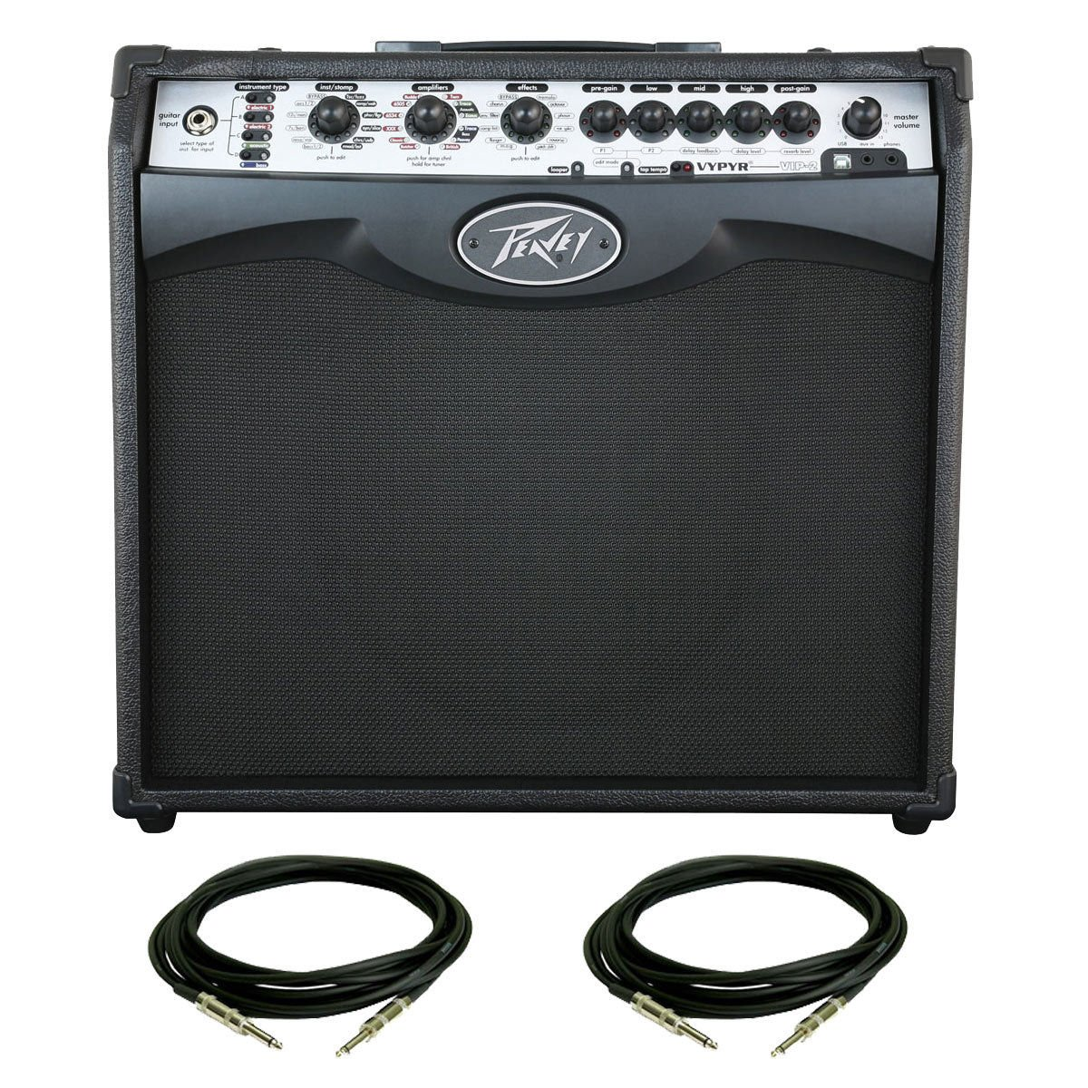 peavey vypyr vip 2 guitar combo amplifier with 1 4 cables guitar affinity. Black Bedroom Furniture Sets. Home Design Ideas
