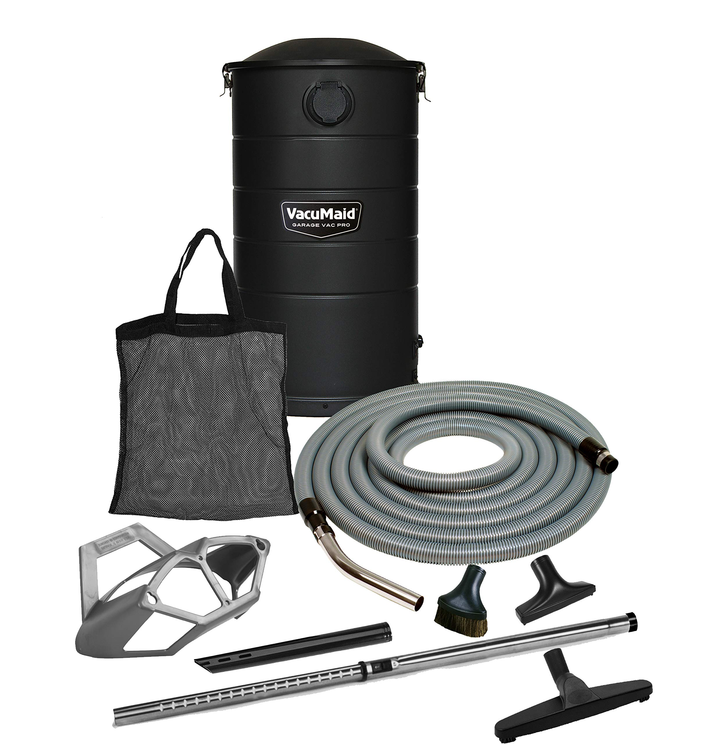 VacuMaid GV50BLKPRO Professional Wall Mounted Garage and Car Vacuum with 50 ft. Hose and Tools by VacuMaid