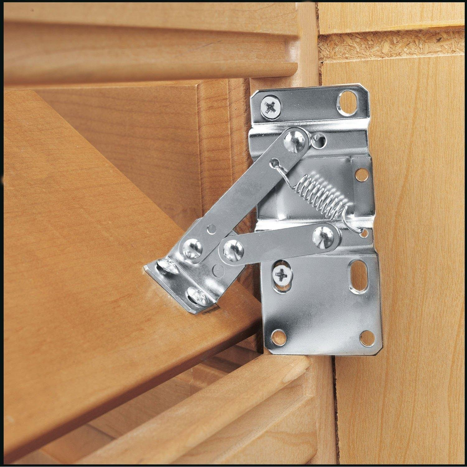 """Rev-A-Shelf 6552-95-0220 6552 Seriesone Pair of Hinges for Tip-Out Trays 16"""" or Longer, Chrome"""
