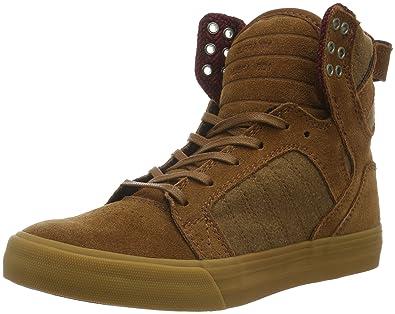 Supra Men s Skytop Brown Leather Sneaker Men s 10.5 2a531949b9d