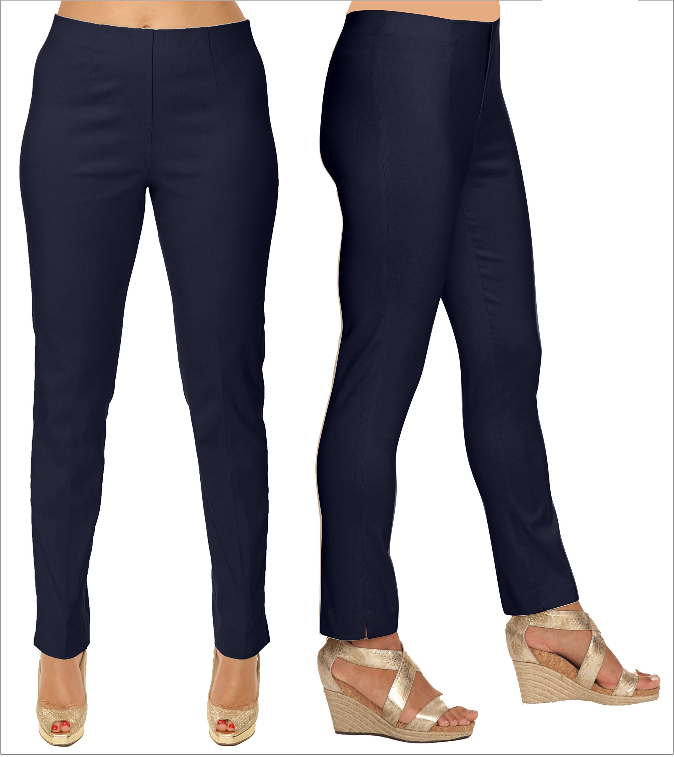 Lior Paris Sasha Essential Slim Fit Ankle Pant (8, Navy) by Lior paris