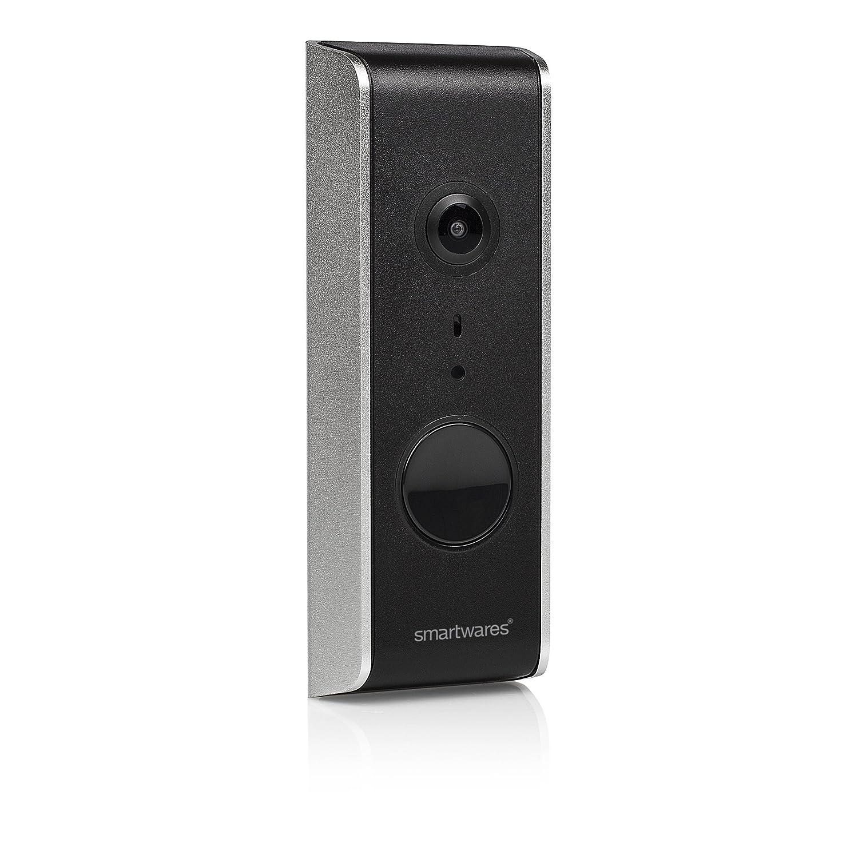 Smartwares DIC-23112 Wlan Türklingel  IP Video Türsprechanlage, mit Ful HD Weitwinkelkamera, Aufnahmefunktion und Bewegungsmelder, App gesteuert