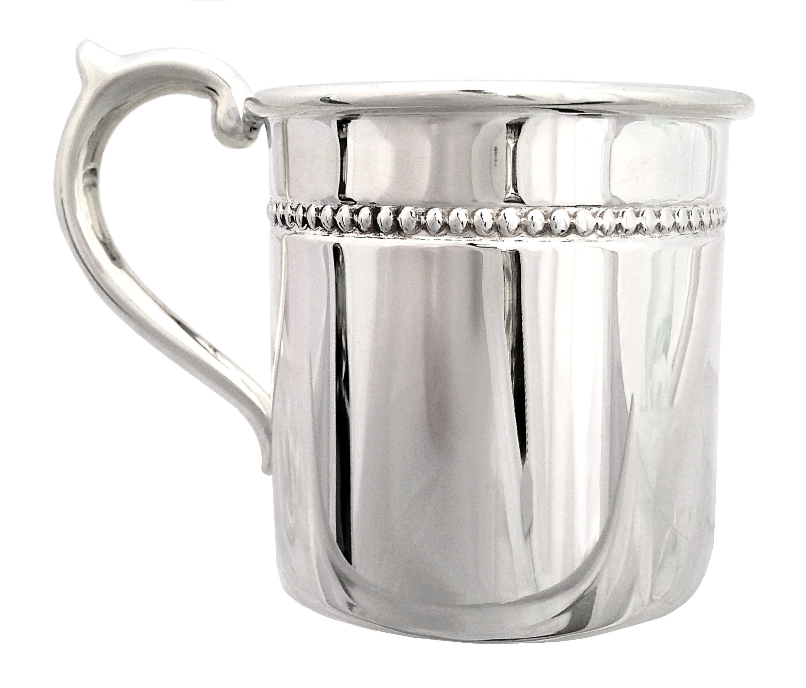 Cunill 3.5-Ounce ''Pearls'' Baby Cup, 2.12-Inch, Sterling Silver