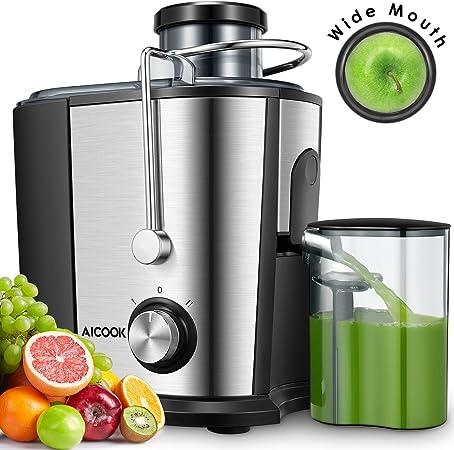 Aicook Licuadoras para Verduras y Frutas, 600W Licuadora con 65MM ...