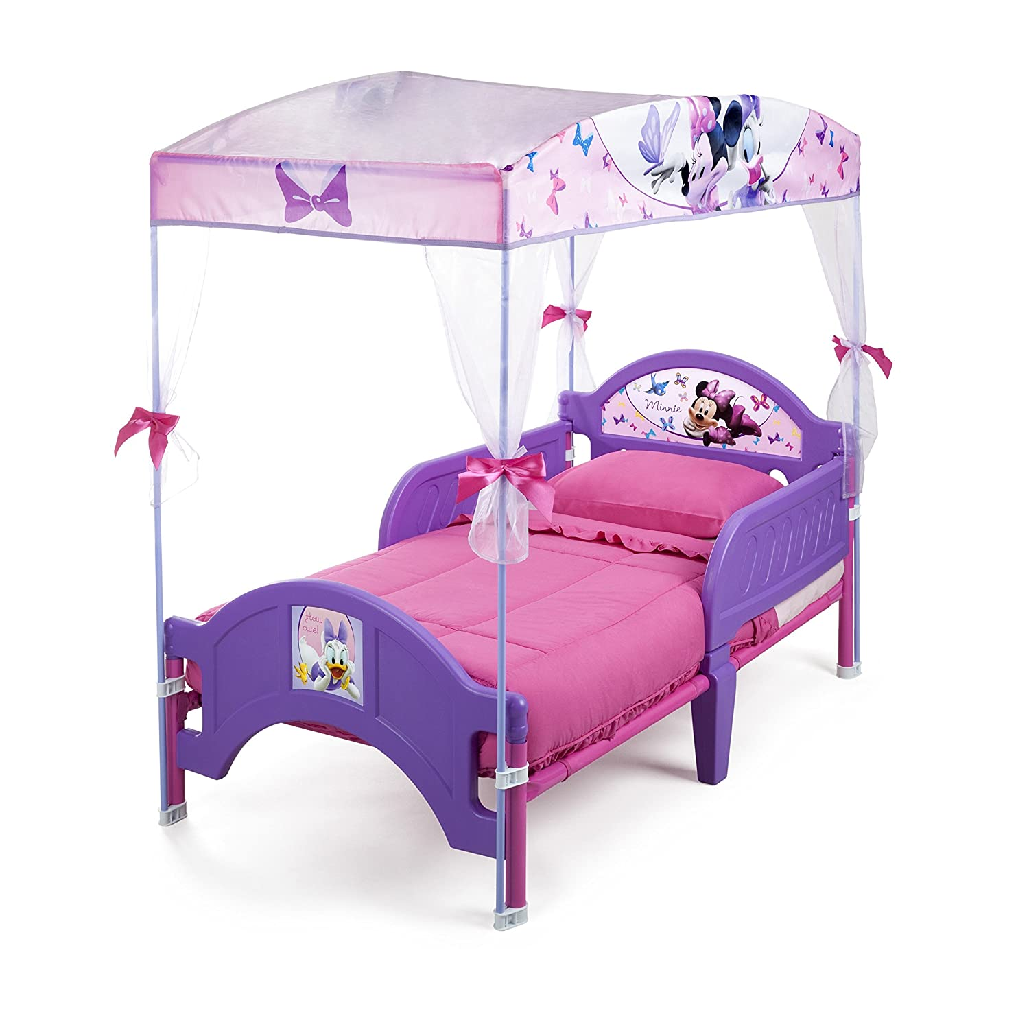 Amazon.com: Delta Childrenu0027s Products Minnie Mouse Canopy Toddler Bed: Toys  U0026 Games