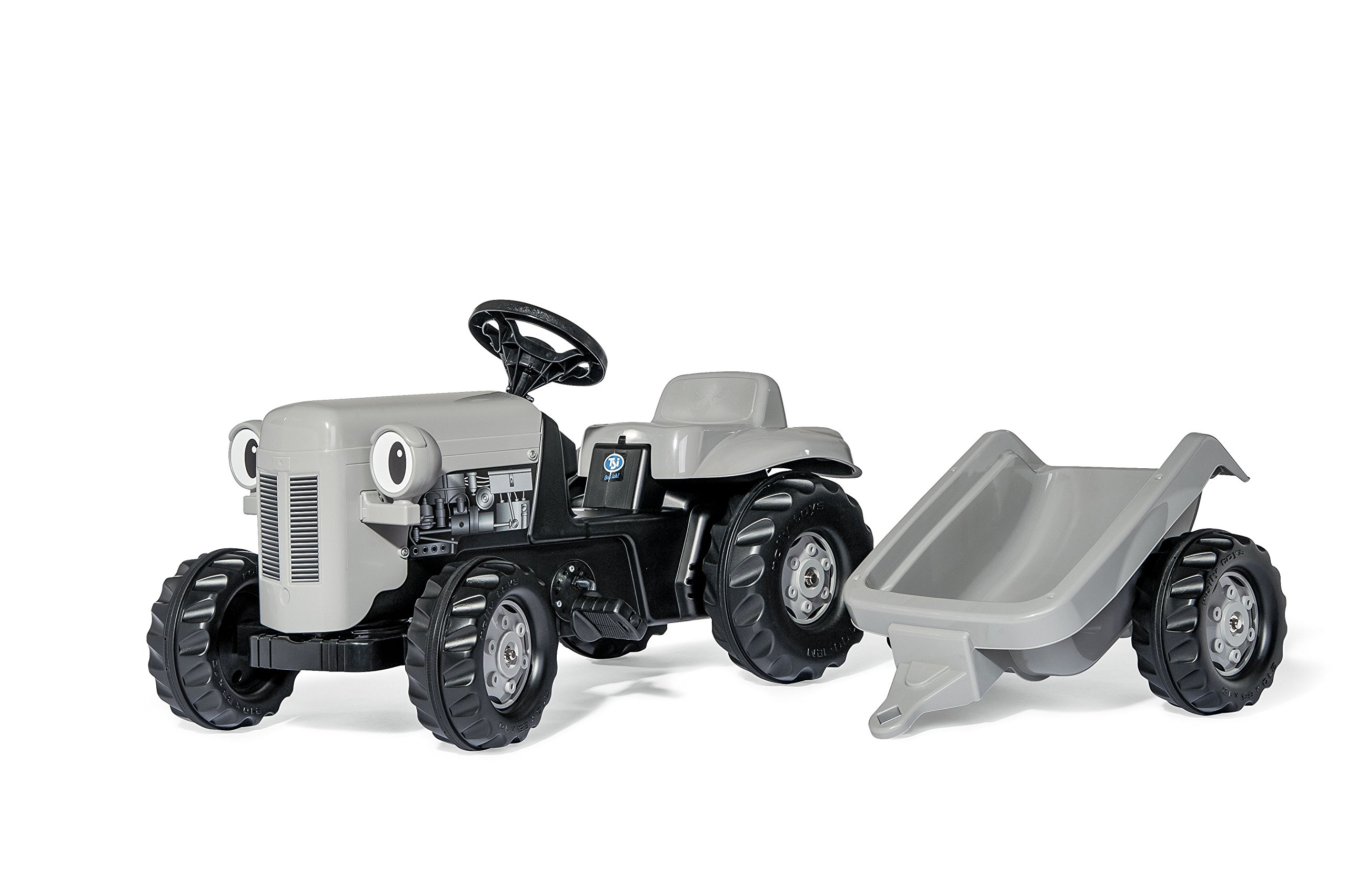 Kettler Little Grey Fergie Pedal Tractor with Detachable Trailer