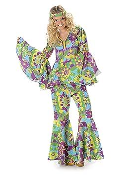 Karnival Costumes - blumiges Hippie Disfraz para Mujer: Amazon.es ...