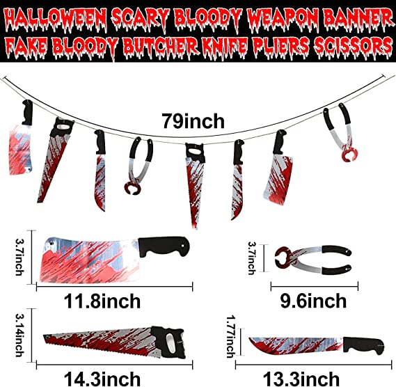 30 Count Fake Scary Broken Blood Hands and Feet Broken Body Parts Foil Swirl for Haunted House Halloween Vampire Zombie Party Supplies Scary Halloween Decorations Blood Weapon Hanging Swirl