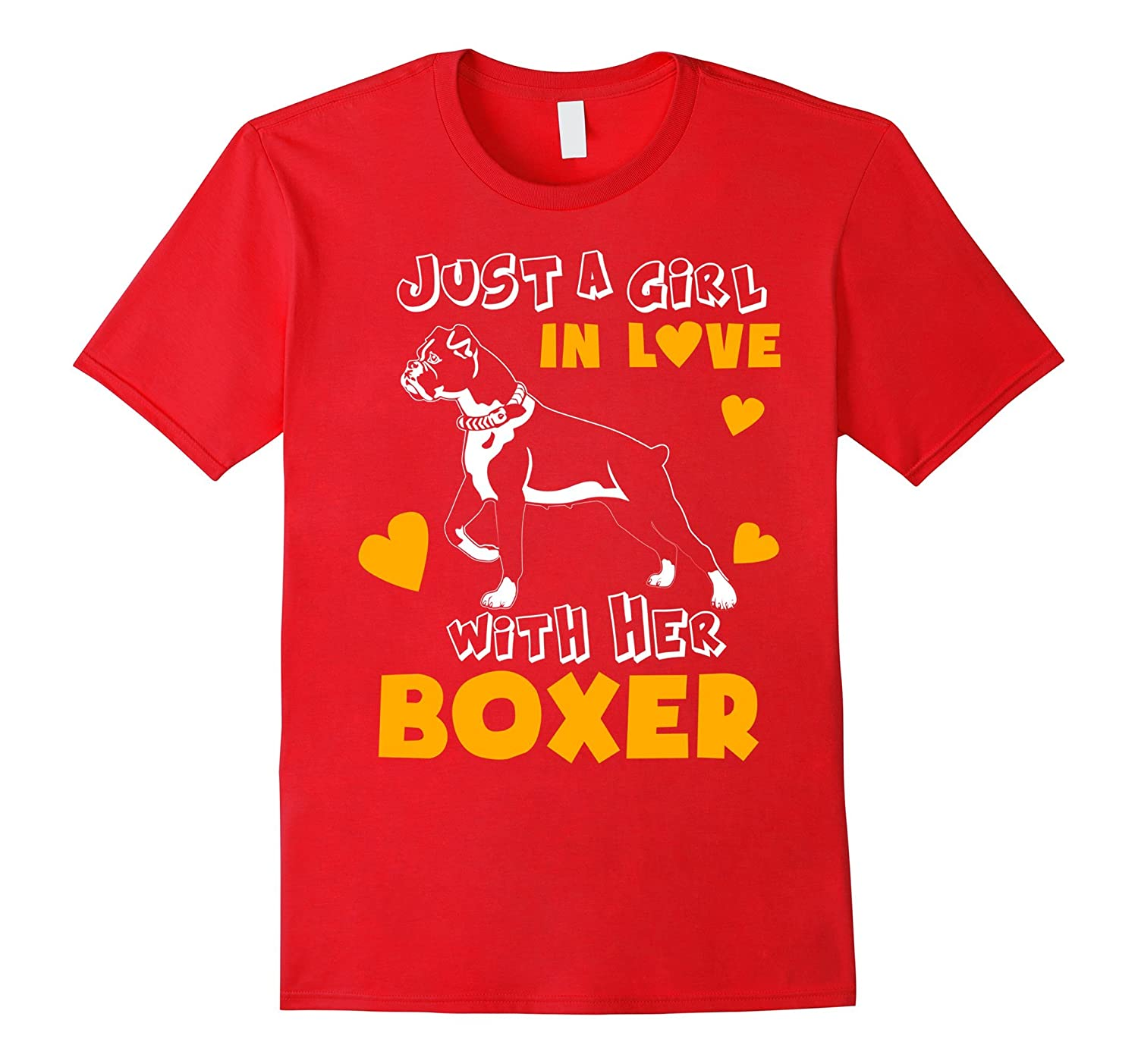 Funny Pet T Shirt Just A Girl In Love With Her Boxer-Art