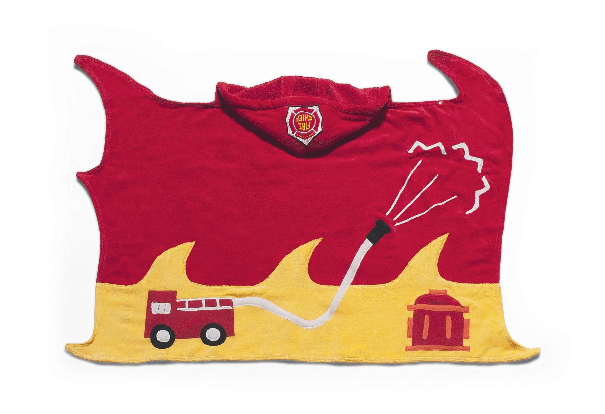 Kidorable Boys 2-7 Fireman Towel, Red, Medium