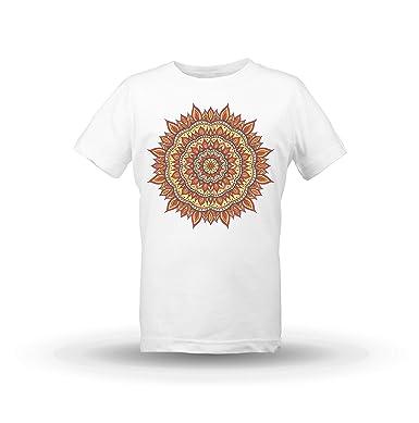 KrisTalas niños Camiseta de Las niñas Mandala T-Shirt Lotus ...