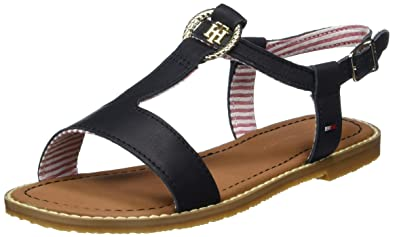 f8a7ac39814a Tommy Hilfiger Girls  S3285asha 4a Wedge Heels Sandals  Amazon.co.uk ...