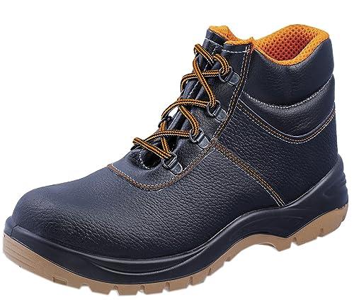Safety - Calzado de protección de cuero para hombre, color negro, talla 42