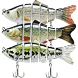 TRUSCEND Fishing Lures for Bass Trout Segmented Multi Jointed Swimbaits Slow Sinking Swimming Lures Freshwater Saltwater Bass
