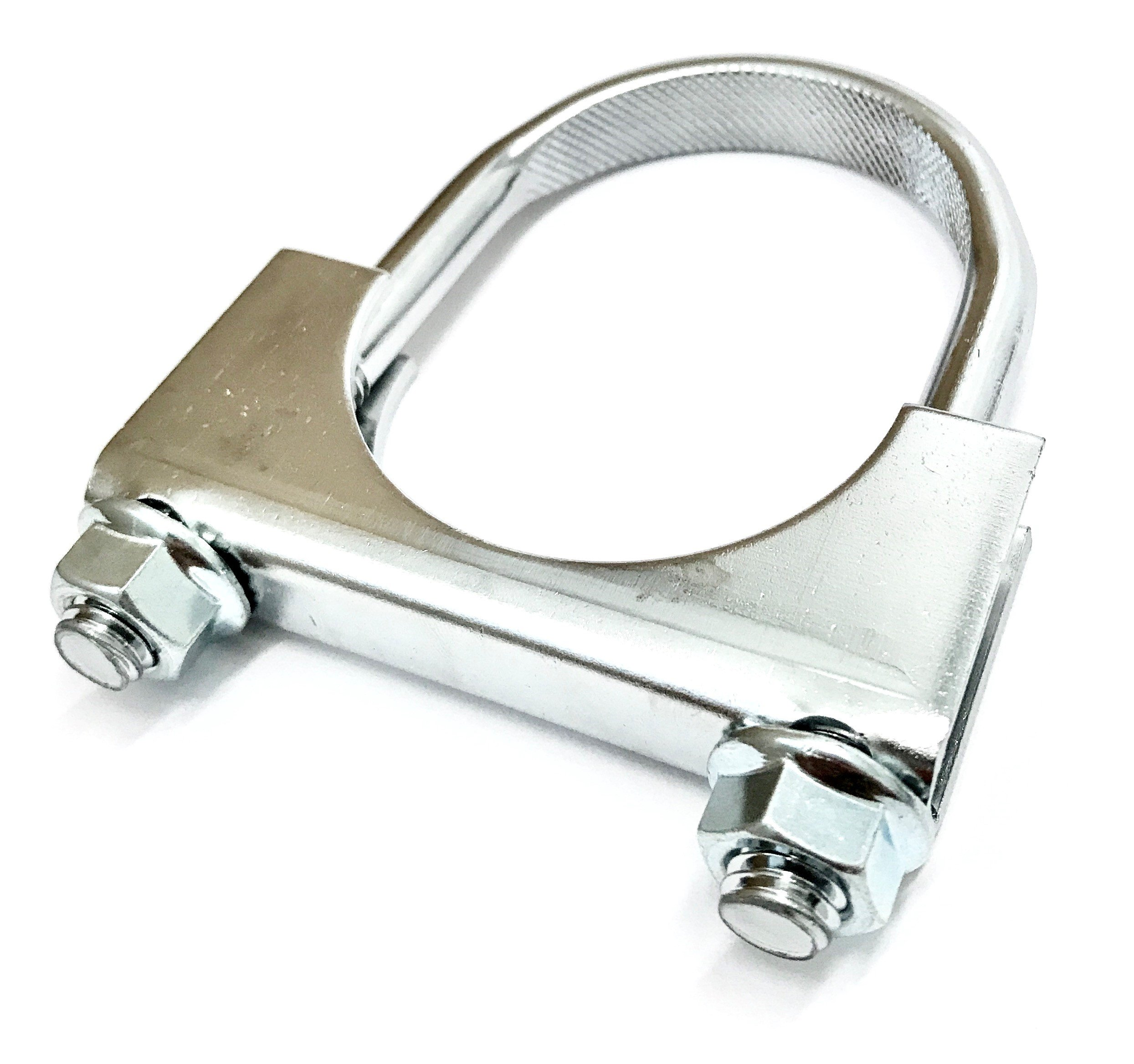 Chrome Heavy Duty Double Edge Open Saddle Muffler Clamp (6'') by After Market Auto & More