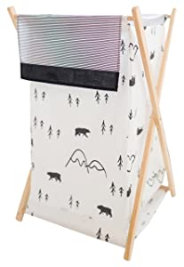 My Baby Sam Little Bear Hamper, Black