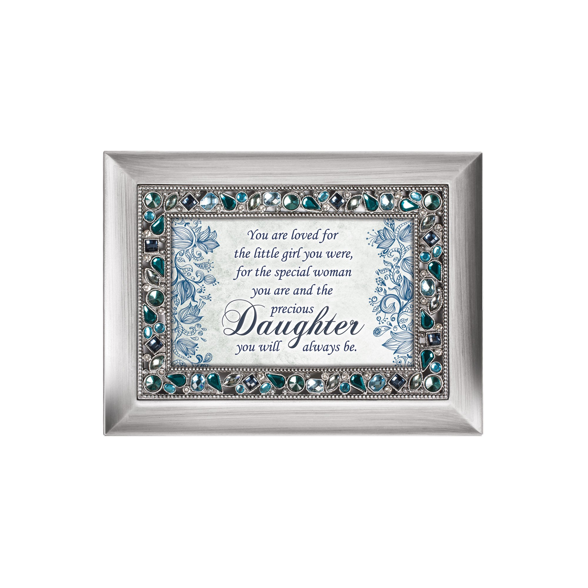 Special Woman Precious Daughter Jeweled Silver Colored Keepsake Music Box Plays You Light Up My Life by Cottage Garden (Image #2)