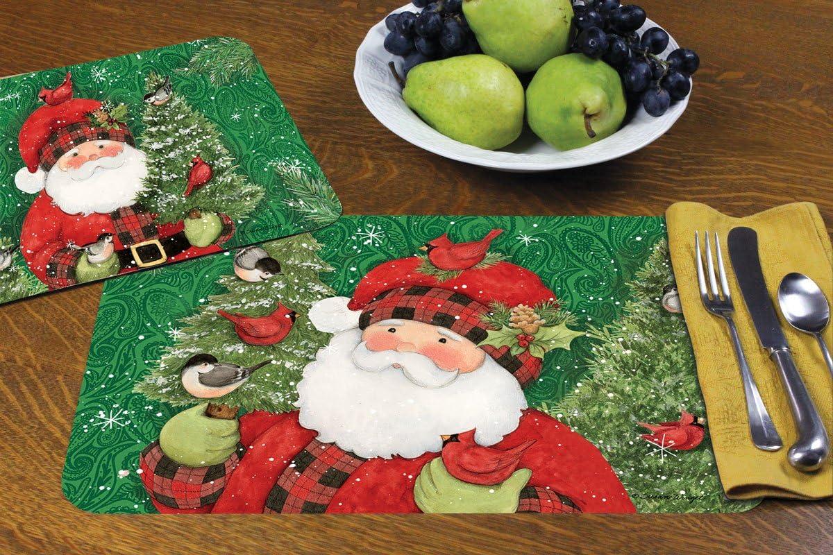 Counterart Set Of 4 Reversible Decofoam Placemats Paisley Santa Amazon Ca Home Kitchen
