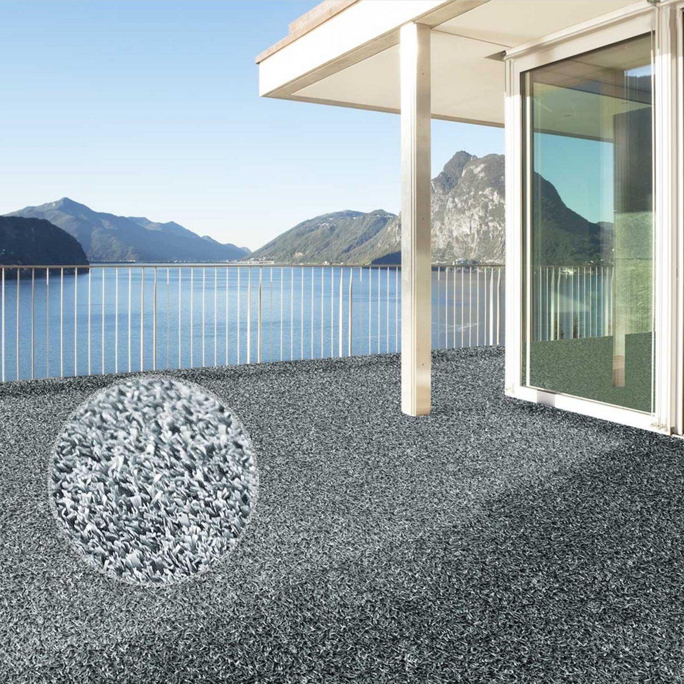 | rev/êtement de Sol Outdoor 2000x200cm pour Jardin terrasse Balcon etc casa pura Moquette dext/érieur Spring Gris au m/ètre Tapis Type Gazon Artificiel