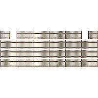 Busch 6007 Picket Fence w/4 Gates HO Scale Scenery Kit