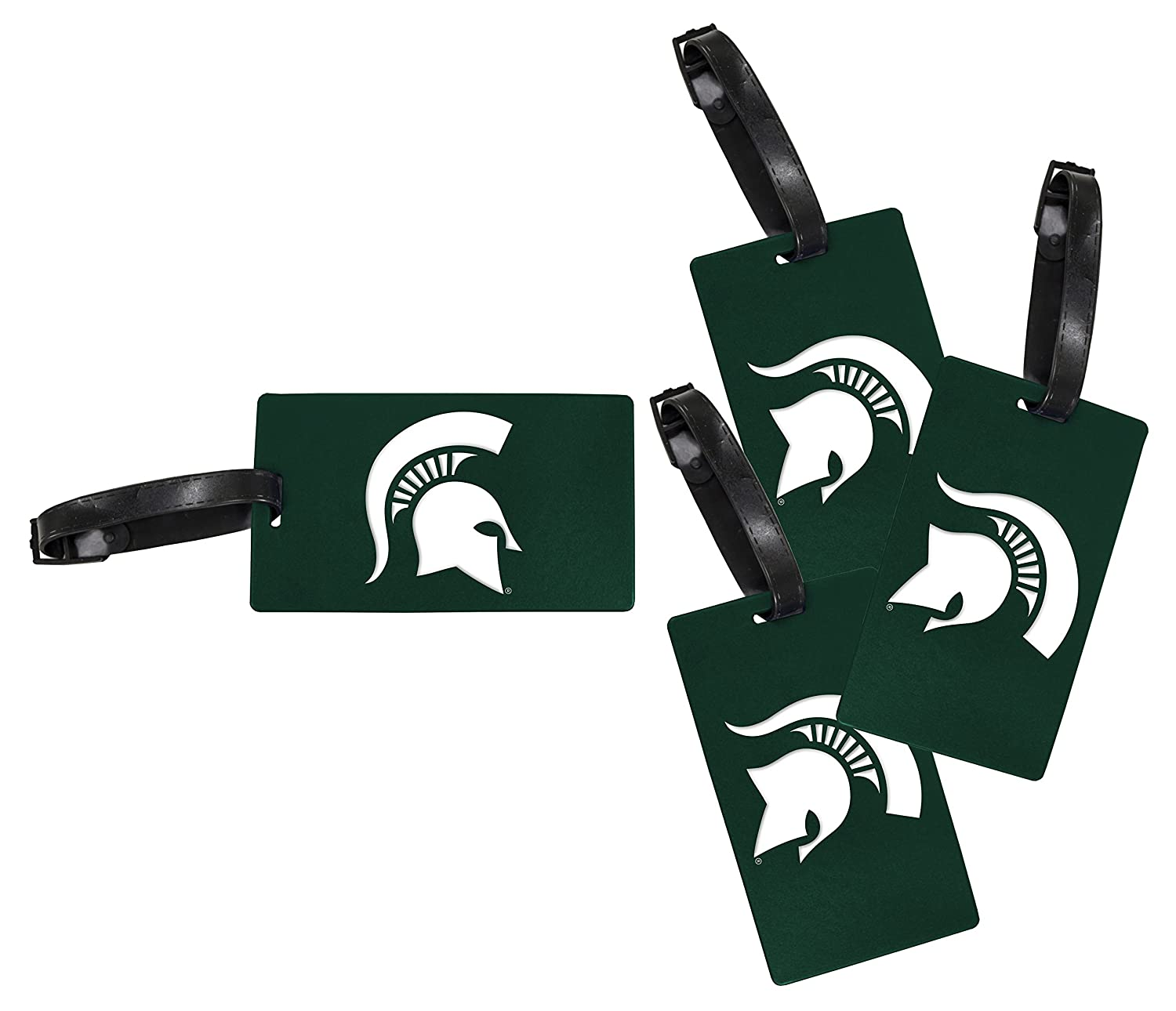 R and R Imports Michigan State Spartans Luggage Tag 4-Pack