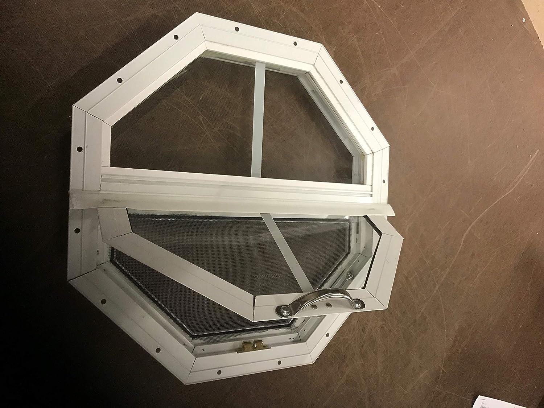 "TILT Out Octagon Window (14"", White)"